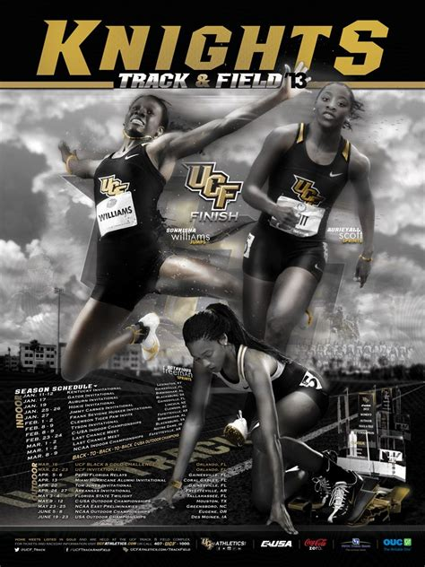 ucf track field schedule poster