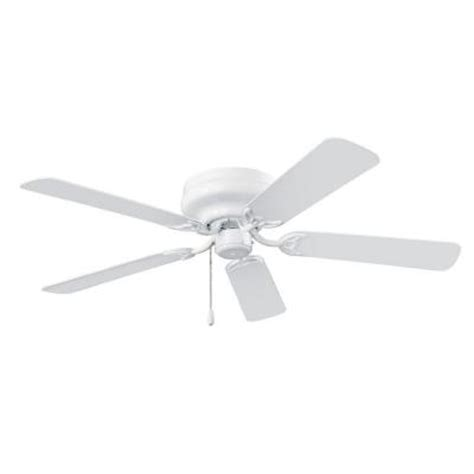 Home Depot Ceiling Fans White by Nutone Hugger Series 52 In White Indoor Ceiling Fan