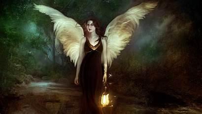 Wings Angel Wallpapers Fantasy Desktop Angels Walking