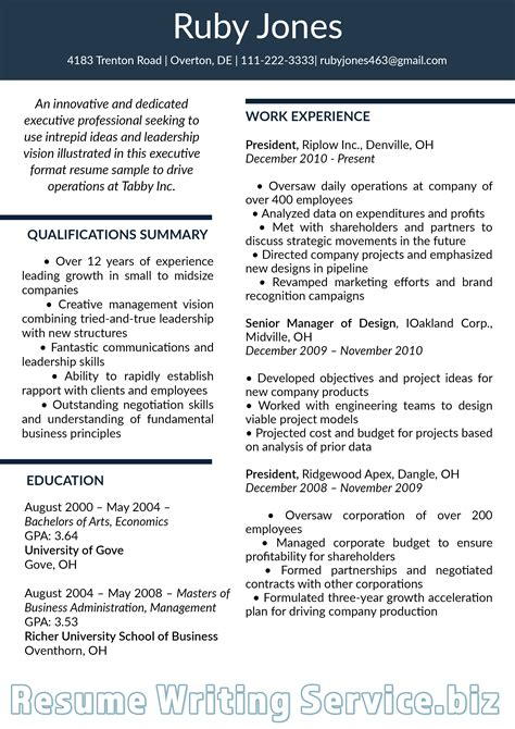 Professional Resume Styles by Pin By Resume 2019 Sles On Executive Resume Format 2019