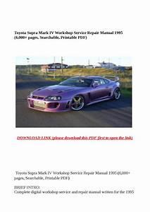 Toyota Supra Mark Iv Workshop Service Repair Manual 1995
