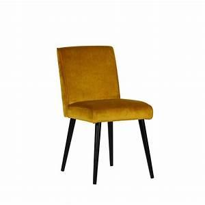 Le Lot 2 Chaises Design En Velours Sara Drawer