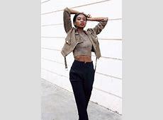 Natasha N Trousers, Crop Top, Suede Jacket Military