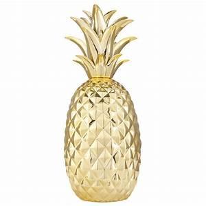 Ananas Deco Blanc : decoration ananas en ceramique ~ Teatrodelosmanantiales.com Idées de Décoration