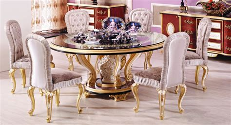 european style kitchen tables luxury european style woodcarving round dining table in