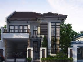 Simple House Floor Designs Ideas 2 storey home with simple minimalist design 4 home ideas