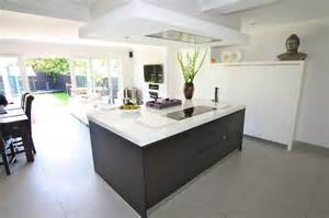 kitchen island extractor open plan kitchen and living room