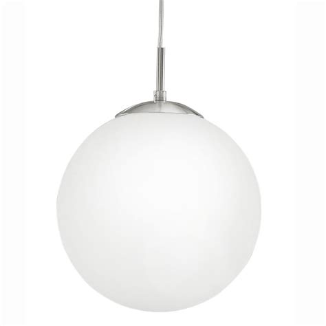 eglo 85262 rondo medium opal white glass globe pendant light
