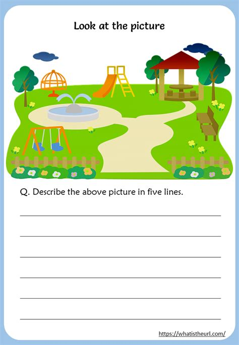 describe  picture worksheets  home teacher