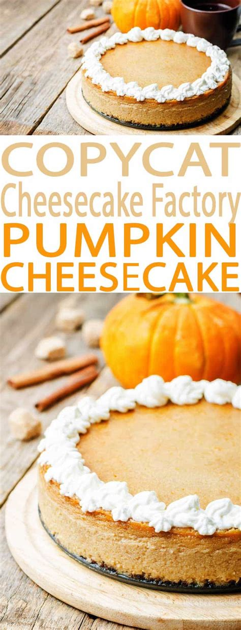 Gift cards are redeemable in any of the cheesecake factory restaurants in the u.s. Pumpkin Cheesecake - A Cheesecake Factory Menu Favorite