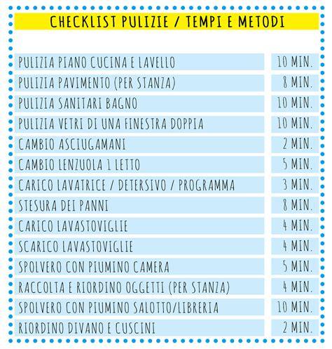 Come Organizzare Le Pulizie Di Casa Giornaliere by Programma Pulizie Casa