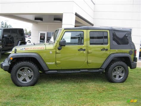 jeep rescue green 2010 jeep wrangler unlimited mountain edition 4x4 in