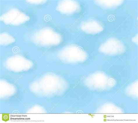 Comp Backgrounds Vector Seamless Pattern Blue Sky And White Clouds