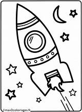 Fusee Rocket Space Coloriage Coloring Dessin Pages Colorier Et Craft La Decolle Kolorowanki Colouring Dla Omaľovanky Camp Kresby Sheets Vesmir sketch template