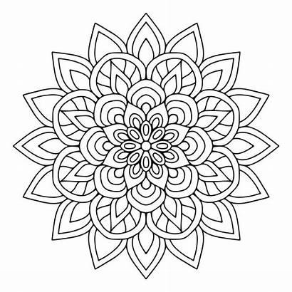 Mandala Floral Gratis Lindo Coloring Mandalas Freepik