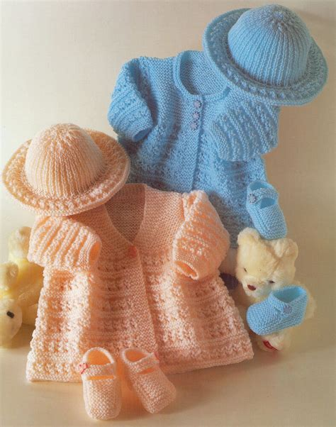 Vintage Baby 1 vintage baby matinee coats hat shoes knitting pattern 14