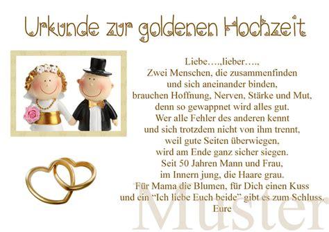 Urkunde Zur Goldene Hochzeit 50. Hochzeitstag Gold