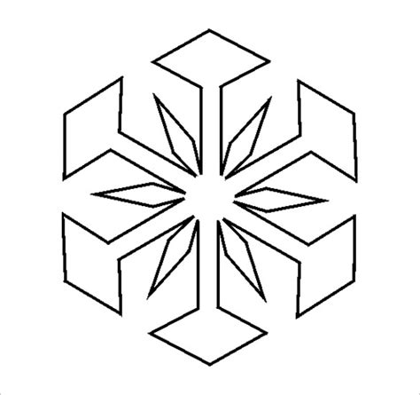 free snowflake template 17 snowflake stencil template free printable word pdf