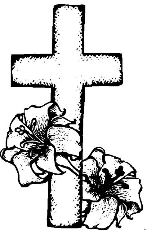 kreuz mit pflanzen ausmalbild malvorlage religion