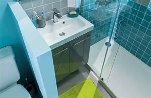 3 idees pour isoler le wc dans la salle de bains With salle de bain espace reduit