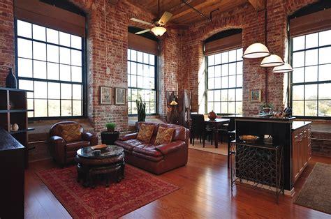 exposed brick living room italian villa floor plans