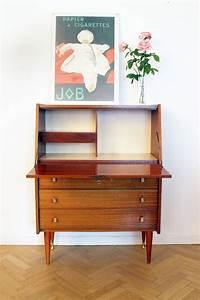 Bureau Secretaire Vintage : secr taire bureau vintage ann es 60 scandinave luckyfind ~ Teatrodelosmanantiales.com Idées de Décoration