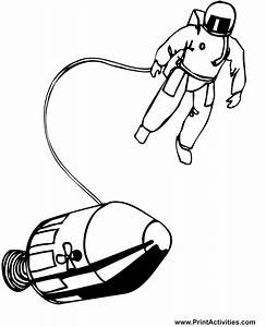 Real Astronaut Coloring Pages - Pics about space