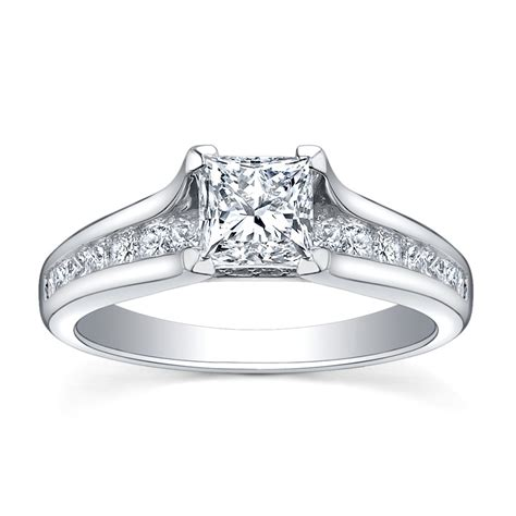 white gold engagement ring with yellow gold wedding band