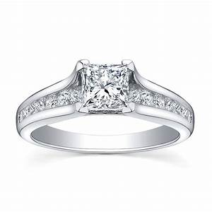 Engagement and wedding ring sets in white gold white gold for Womens wedding ring sets white gold