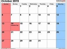 October 2019 Calendar Note Pdf Word Image Qualads