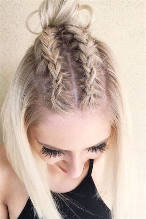 dazzling ideas  braids  short hair simple pictures  short hairstyles