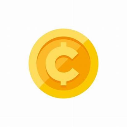 Cent Sign Coin Symbol Centavo Illustration Gold