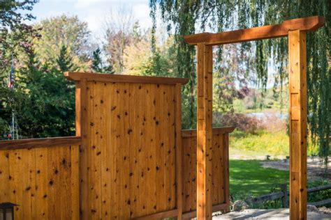 japanese style cedar gate