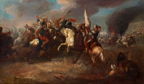 pouf siege cavalry battle between habsburg austrians and ottoman