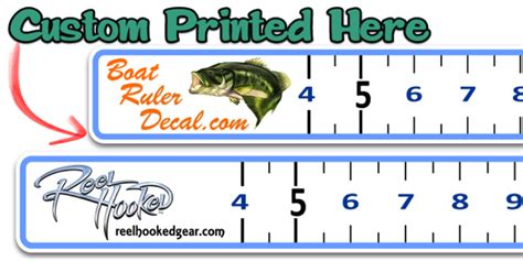 Boat Lettering To You Discount Code by Custom Boat Ruler Vinyl Decal Fish Measure Fishing Decal