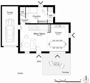 plan maison 80 m2 avec mezzanine ooreka With plan maison avec mezzanine