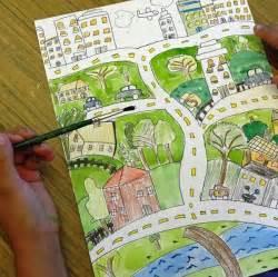 City Folk Art Drawing