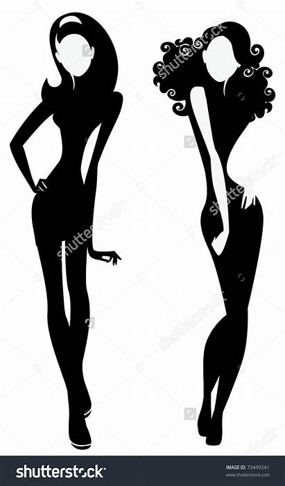 Silhouette Clipart Sisters Ladies Getdrawings Clipground Vector