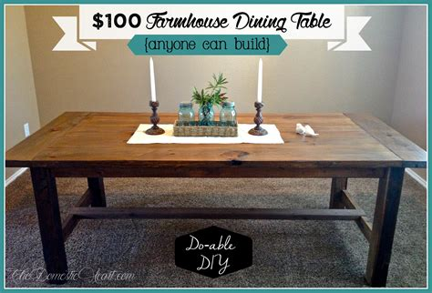 Diy Farmhouse Dining Table {my First Woodworking Project}