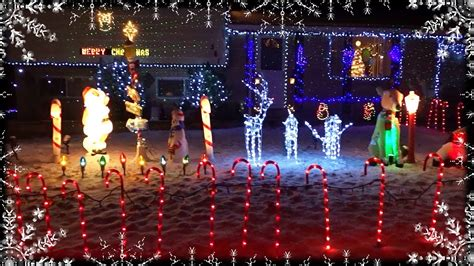 cool christmas house decorations yard display lights