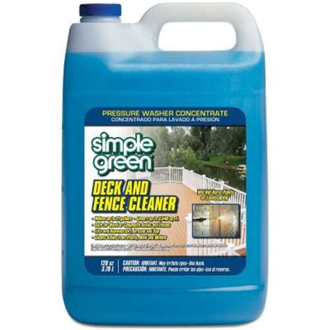 simple green  oz deck  fence cleaner pressure