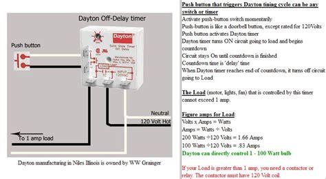 dayton  delay timer wiring diagram wiring diagram