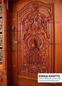 carved, main, door, kiran, enterprises, wooden, doors