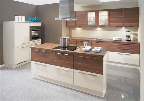 castorama cuisine all in primo high gloss walnut kitchen design stylehomes