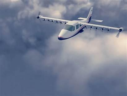 57 Nasa Flying Maxwell X57 Through Clouds