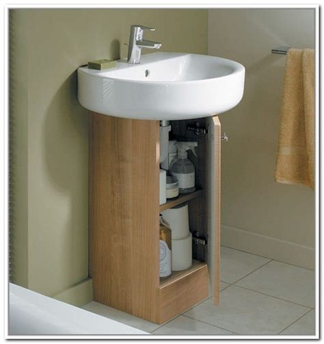 Small Bathroom Sinks With Storage by Sink Storage For Pedestal Sinks Home Design Ideas