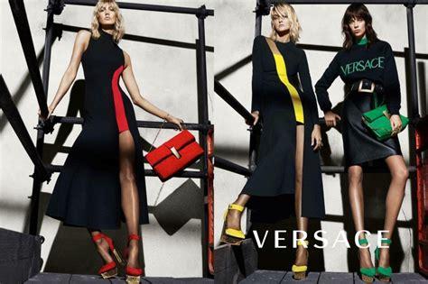 Karlie Kloss Gets Leggy Versace Fall Winter Ads