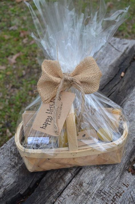 valentines day homemade gift basket natural candles