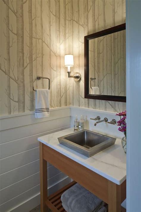 hutker architects bathrooms woods wallpaper small