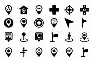 Maps And Navigation Vector Icons 1 Stock Illustration ...